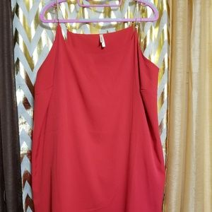 New no tags red chain strap dress